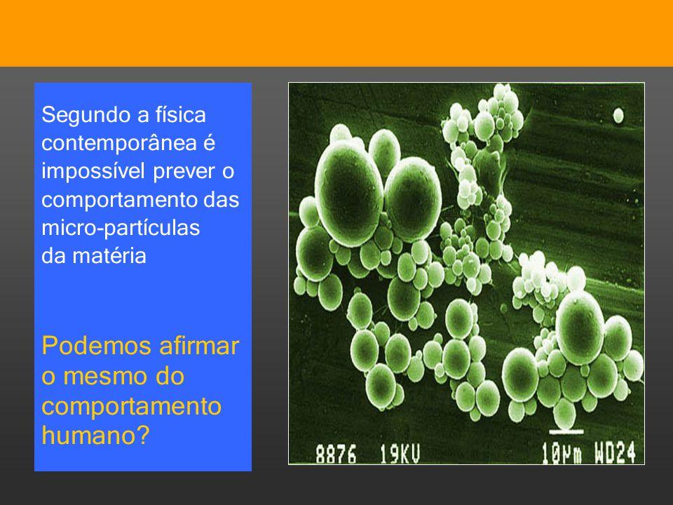 Pensar Azul Texto Editores Segundo a física contemporânea é impossível prever o comportamento das micro-partículas da matéria Podemos afirmar o mesmo
