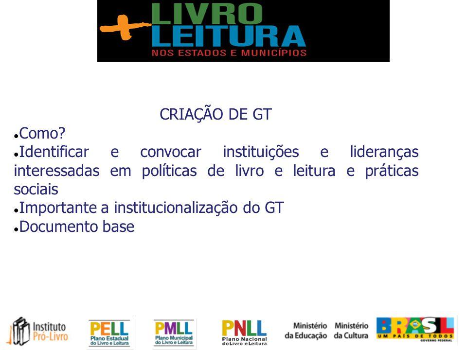 CRIAÇÃO DE GT Como.