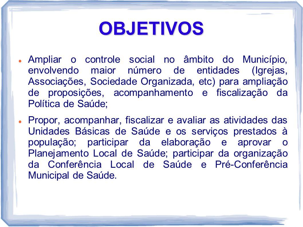 ASSESSORIA O Conselho Municipal de Saúde assessora os Conselhos Locais de Saúde.