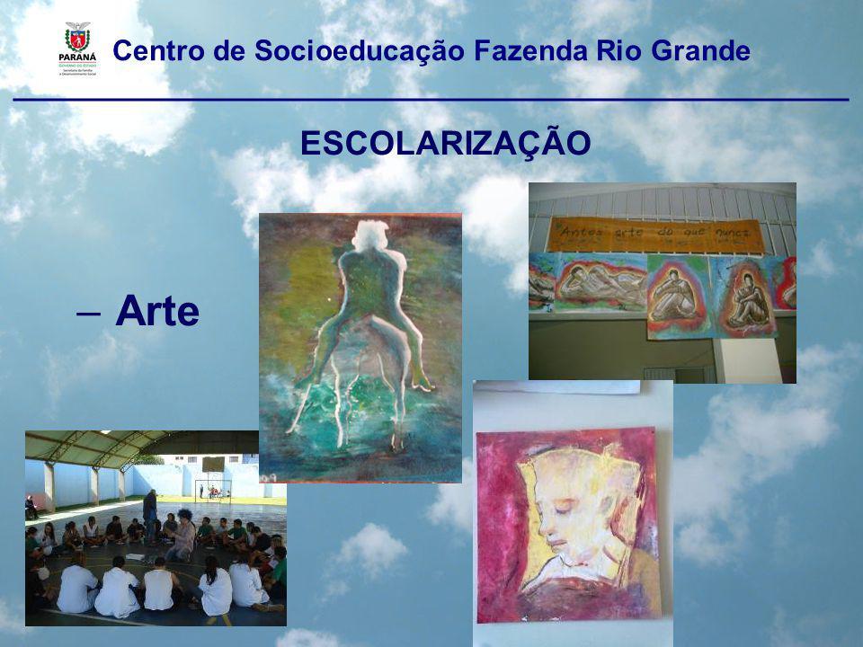 Centro de Socioeducação Fazenda Rio Grande ____________________________________________________ ESCOLARIZAÇÃO – Arte