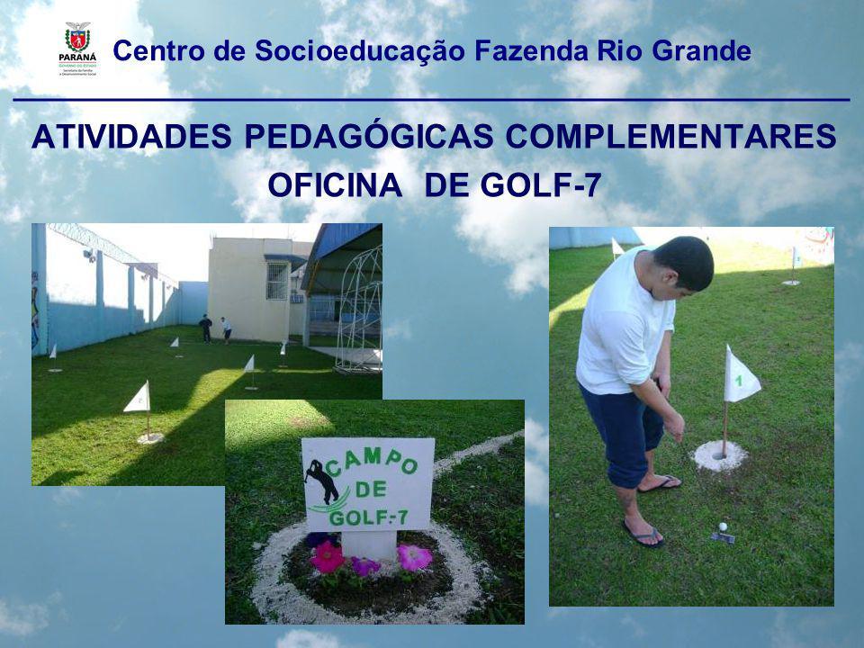 Centro de Socioeducação Fazenda Rio Grande ____________________________________________________ ATIVIDADES PEDAGÓGICAS COMPLEMENTARES OFICINA DE GOLF-