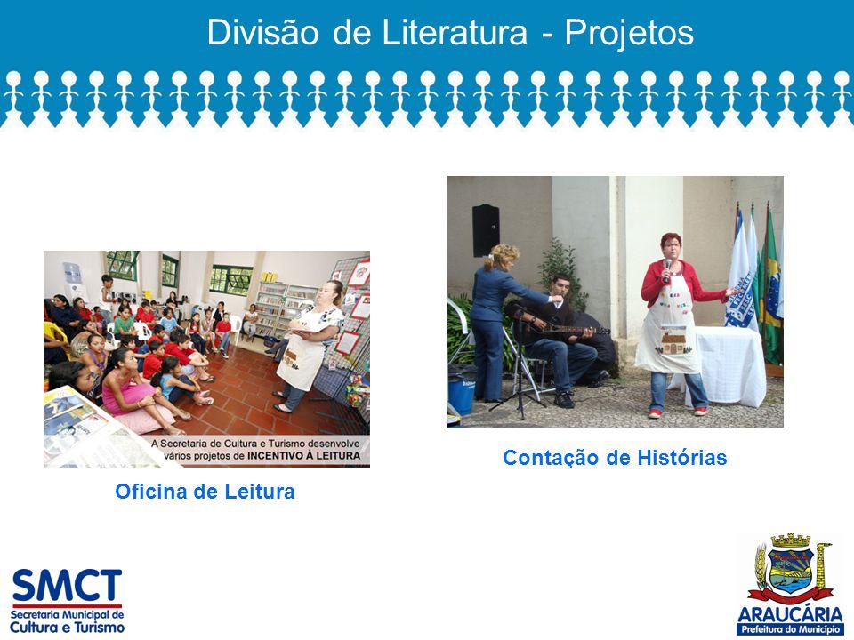 Divisão de Literatura - Projetos Oficina de Leitura Contação de Histórias