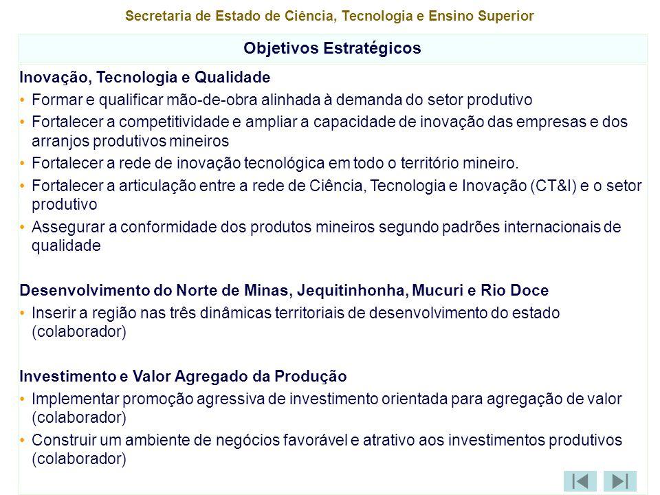 Secretaria Extraordinária para o Desenvolvimento dos Vales do Jequitinhonha, Mucuri e Norte de Minas IndicadoresFonte Situação Atual Ano de apuração 200720112023 Desenvolvimento do Norte de Minas, Jequitinhonha, Mucuri e Rio Doce Reduzir a taxa de distorção idade-série (8a série EF) (colaborador)*: - Norte - Jequitinhonha / Mucuri - Rio Doce SEE 43,8 54,1 41,1 2003 42,3 53 40 30 38 30 15 20 15 Reduzir a taxa de distorção idade-série ( 3a série EM) (colaborador)*: - Norte - Jequitinhonha / Mucuri - Rio Doce SEE 44,8 51,7 40,5 2003 43,3 50 39,4 30 38 30 15 20 15 Reduzir a taxa de mortalidade infantil na macroregião da Saúde (colaborador)*: - Norte de Minas - Leste - Jequitinhonha - Nordeste SIMSINASC 15,4 19,3 18,4 23,2 2005 8 a 10 Nota: As metas de 2007 serão alvo de pactuação do Acordo de Resultados.