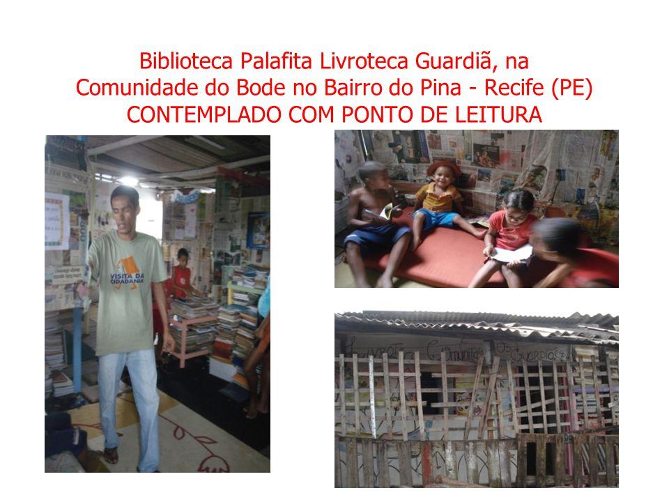 Biblioteca Palafita Livroteca Guardiã, na Comunidade do Bode no Bairro do Pina - Recife (PE) CONTEMPLADO COM PONTO DE LEITURA