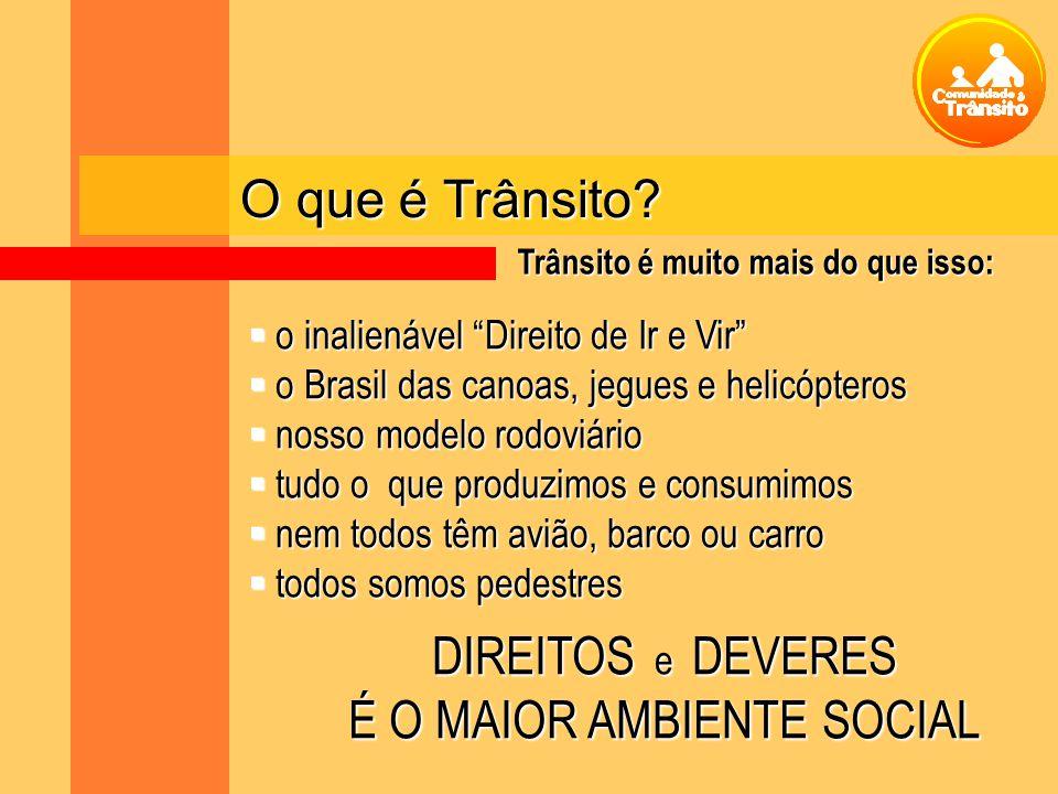 O que é Trânsito? o inalienável Direito de Ir e Vir o inalienável Direito de Ir e Vir o Brasil das canoas, jegues e helicópteros o Brasil das canoas,