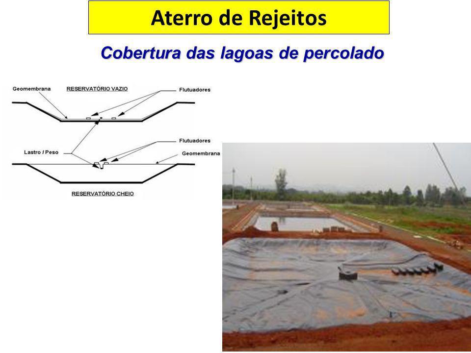 Cobertura das lagoas de percolado Aterro de Rejeitos