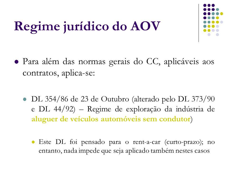 Para além das normas gerais do CC, aplicáveis aos contratos, aplica-se: DL 354/86 de 23 de Outubro (alterado pelo DL 373/90 e DL 44/92) – Regime de ex