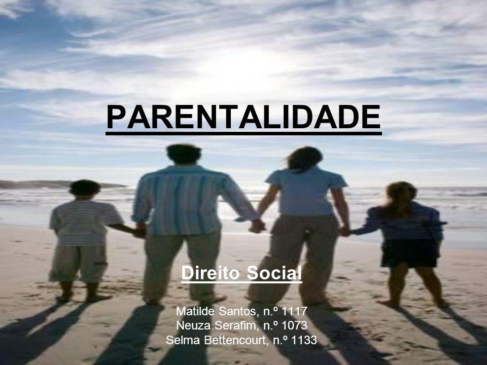 PARENTALIDADE Direito Social Matilde Santos, n.º 1117 Neuza Serafim, n.º 1073 Selma Bettencourt, n.º 1133