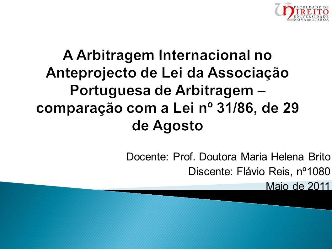 Docente: Prof. Doutora Maria Helena Brito Discente: Flávio Reis, nº1080 Maio de 2011