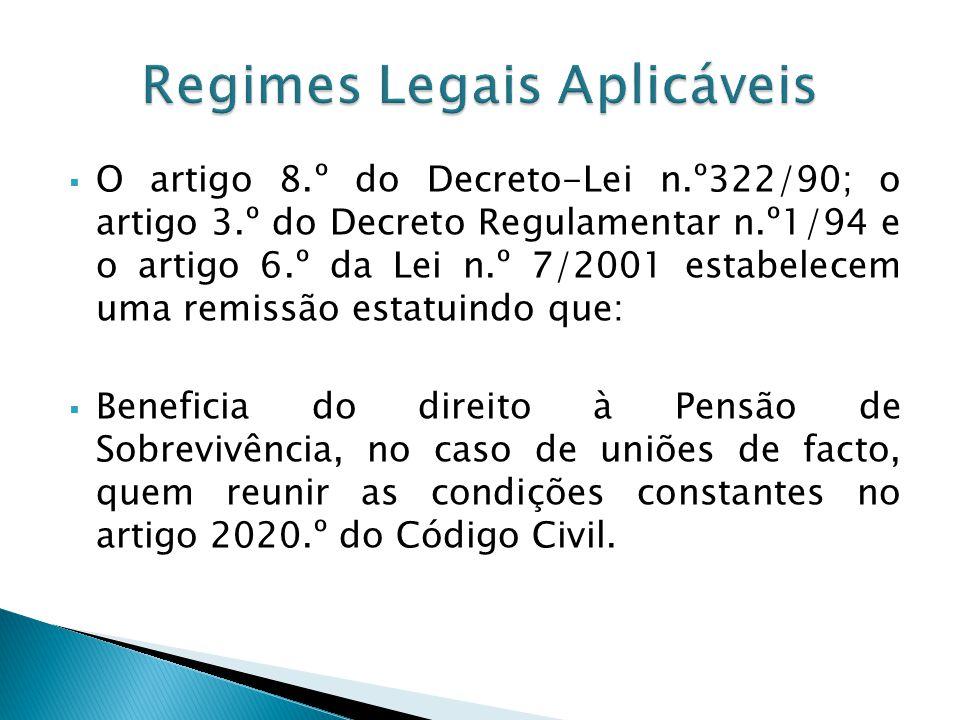 O artigo 8.º do Decreto-Lei n.º322/90; o artigo 3.º do Decreto Regulamentar n.º1/94 e o artigo 6.º da Lei n.º 7/2001 estabelecem uma remissão estatuin