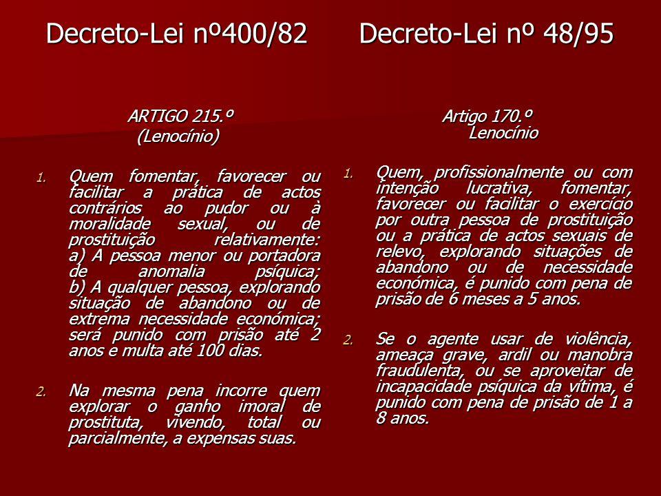 Lei nº65/98 Art.170º Lenocínio 1.