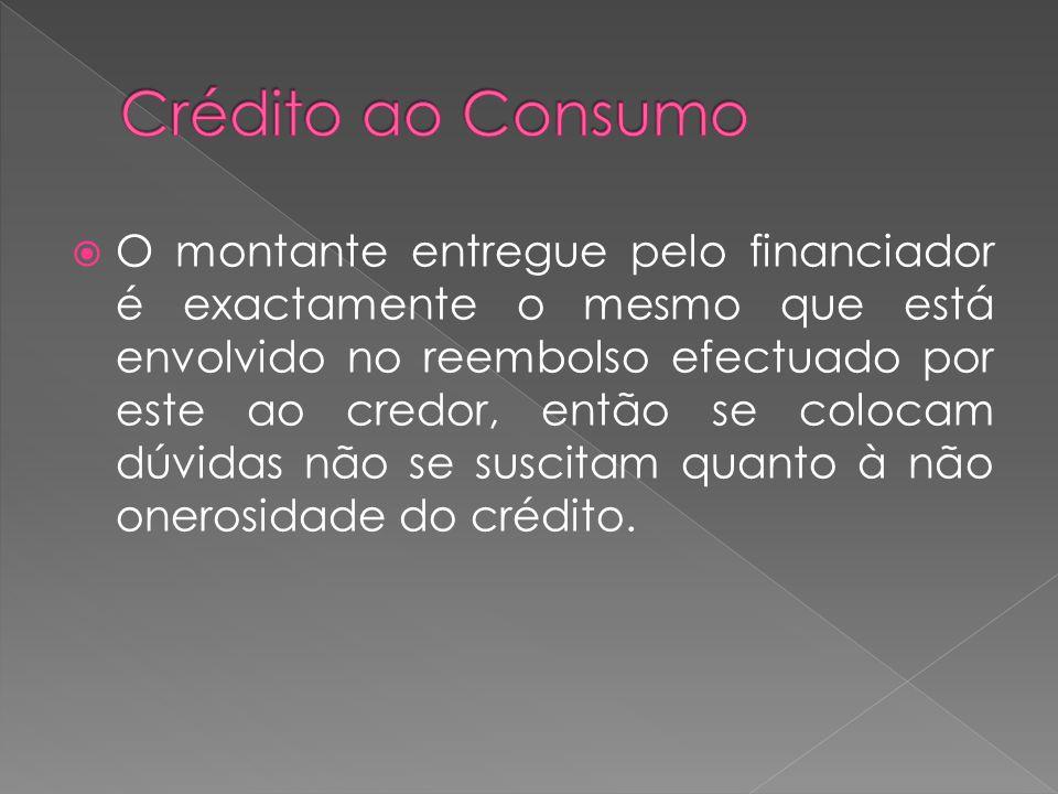 O montante entregue pelo financiador é exactamente o mesmo que está envolvido no reembolso efectuado por este ao credor, então se colocam dúvidas não
