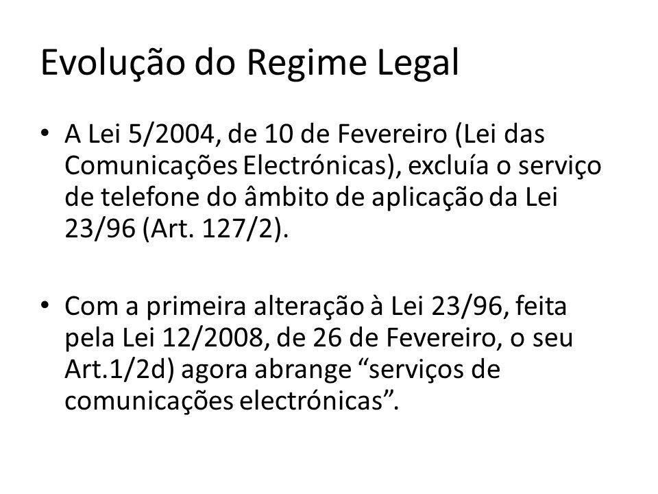 Evolução do Regime Legal Esta alteração implicaria a revogação tácita do Art.