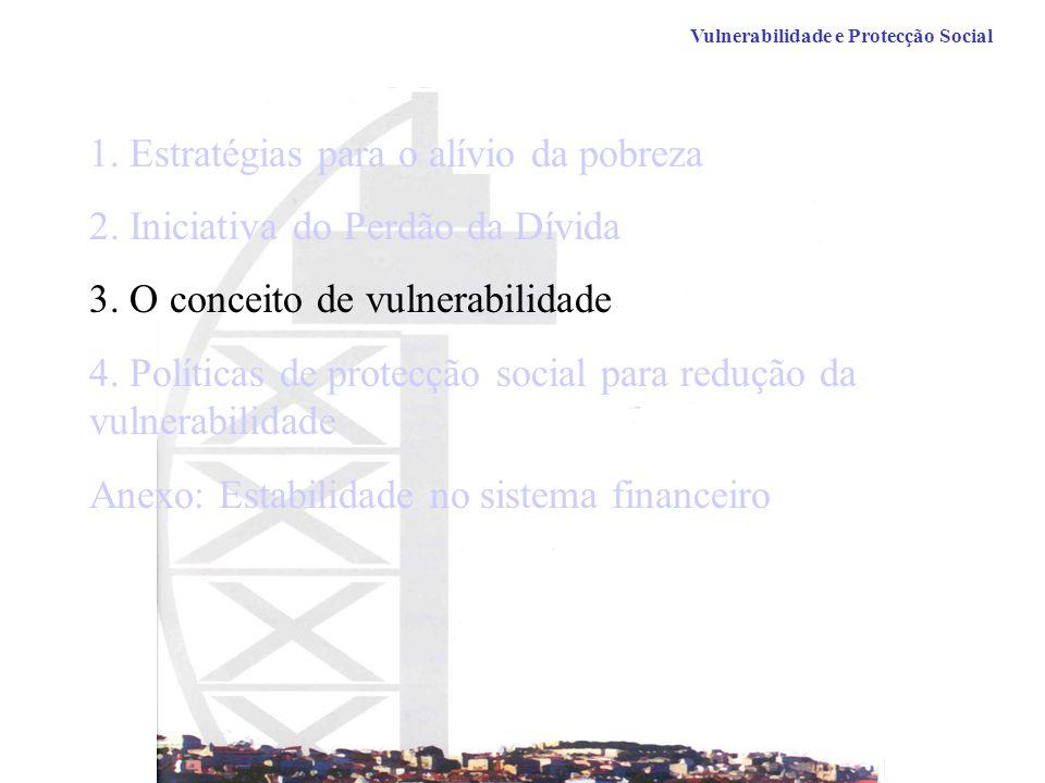 1.Estratégias para o alívio da pobreza 2. Iniciativa do Perdão da Dívida 3.