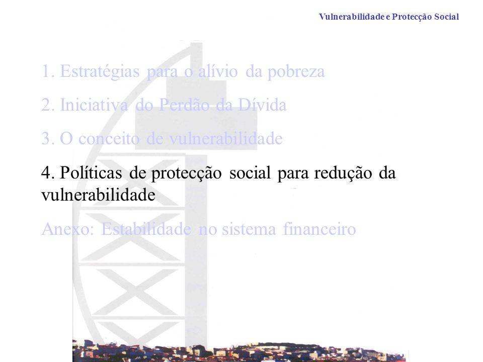 Vulnerabilidade e Protecção Social 1.Estratégias para o alívio da pobreza 2.