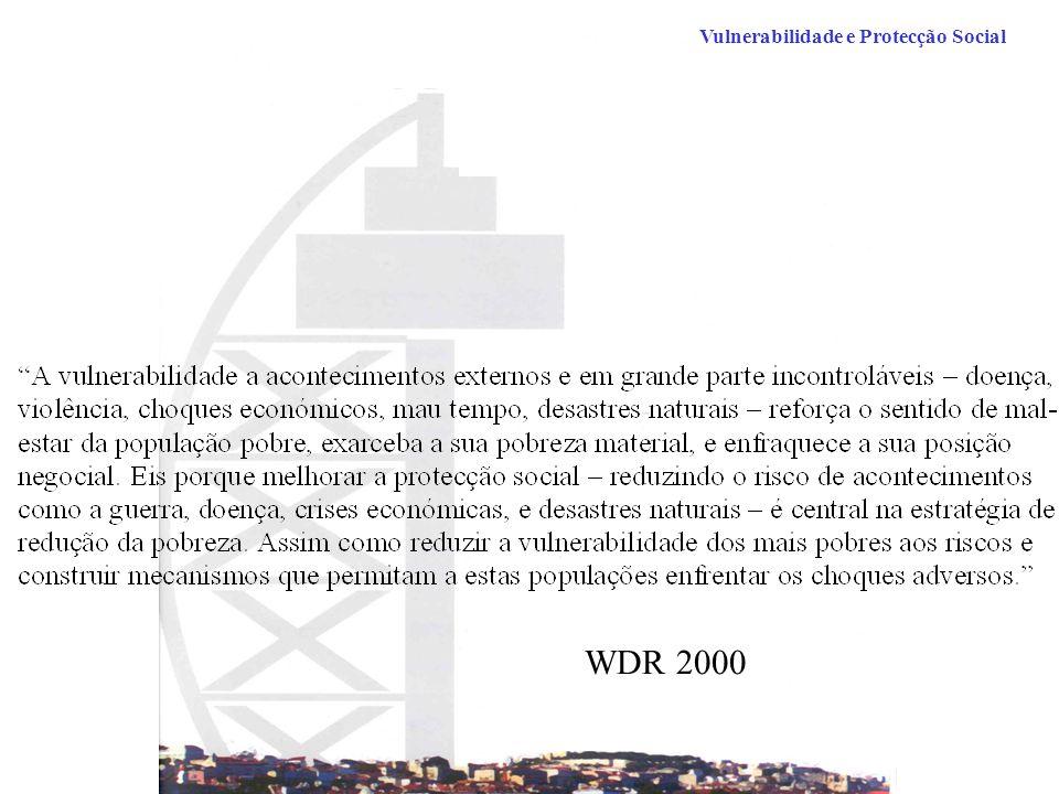 Vulnerabilidade e Protecção Social WDR 2000
