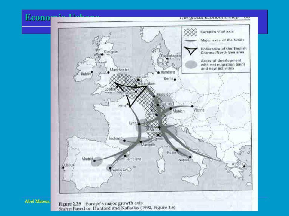Abel Mateus, Economia Urbana - Setúbal, 24 de Março de 2000 Economia Urbana A Figura seguinte representa o modelo de U-da- especialização de Krugman.