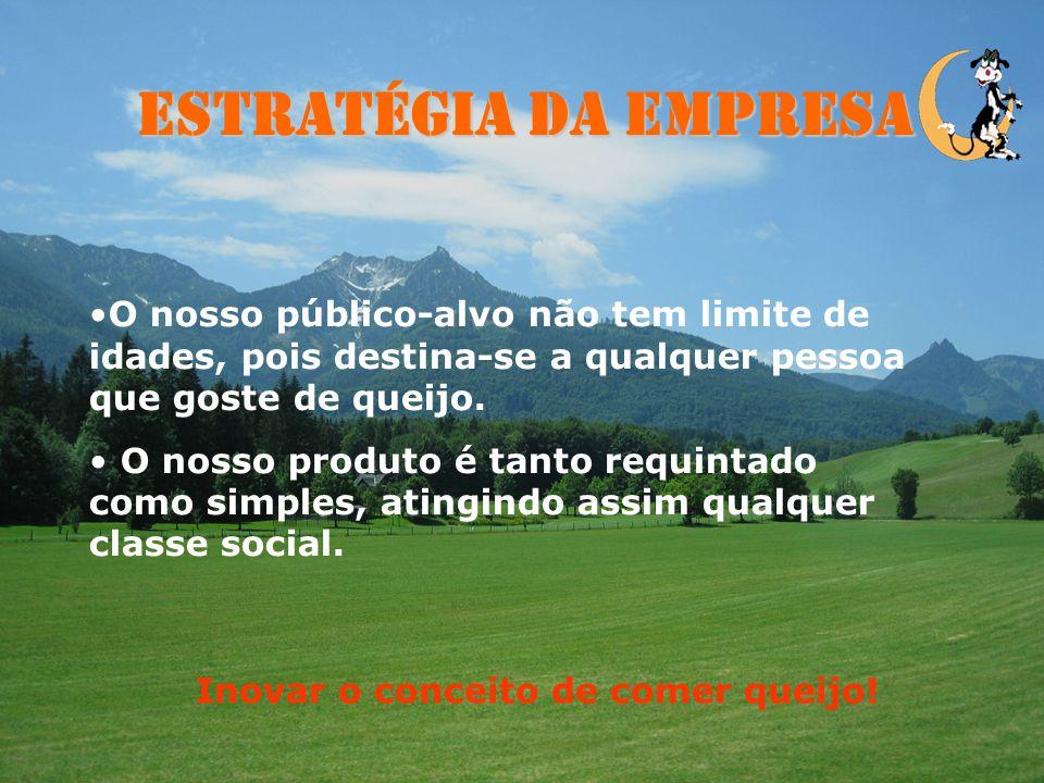 Estratégia da Empresa - Vantagem competitiva - baseada na diferenciação; - Conquistar um novo mercado. - Fazer com que o consumidor português não cons