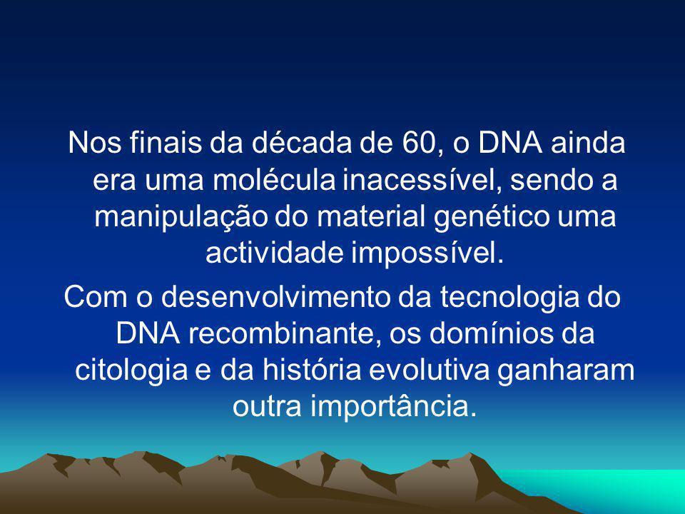 Nos finais da década de 60, o DNA ainda era uma molécula inacessível, sendo a manipulação do material genético uma actividade impossível.