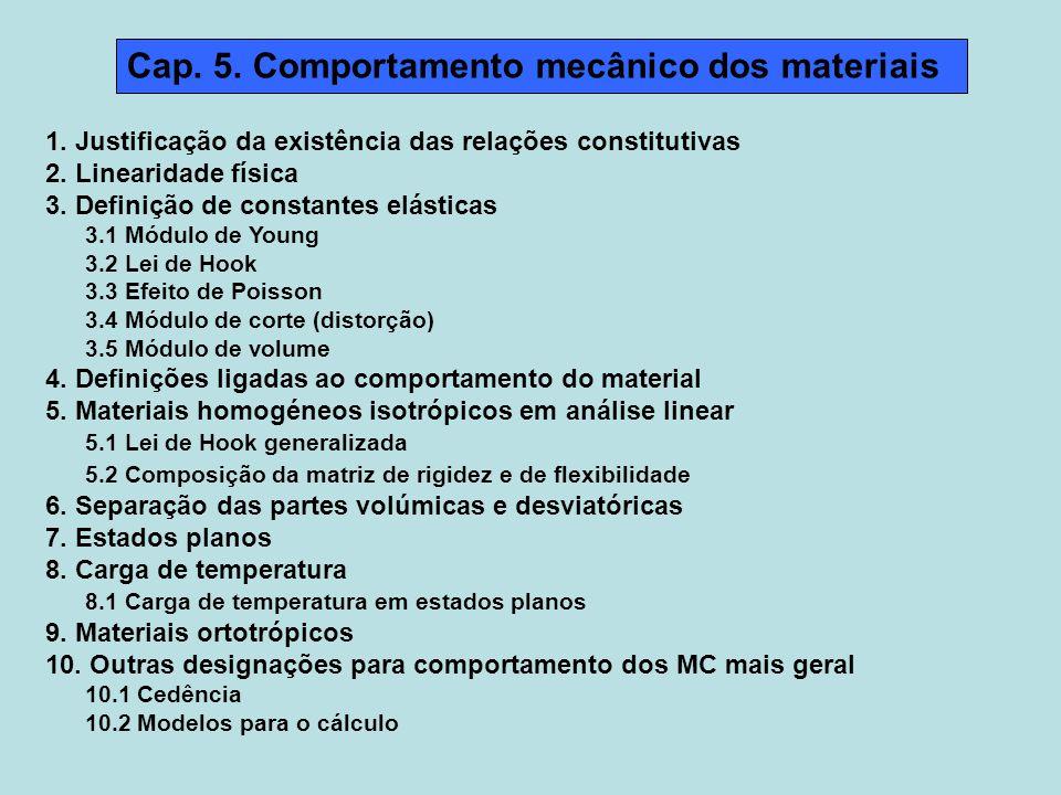 Cap.5. Comportamento mecânico dos materiais 1.