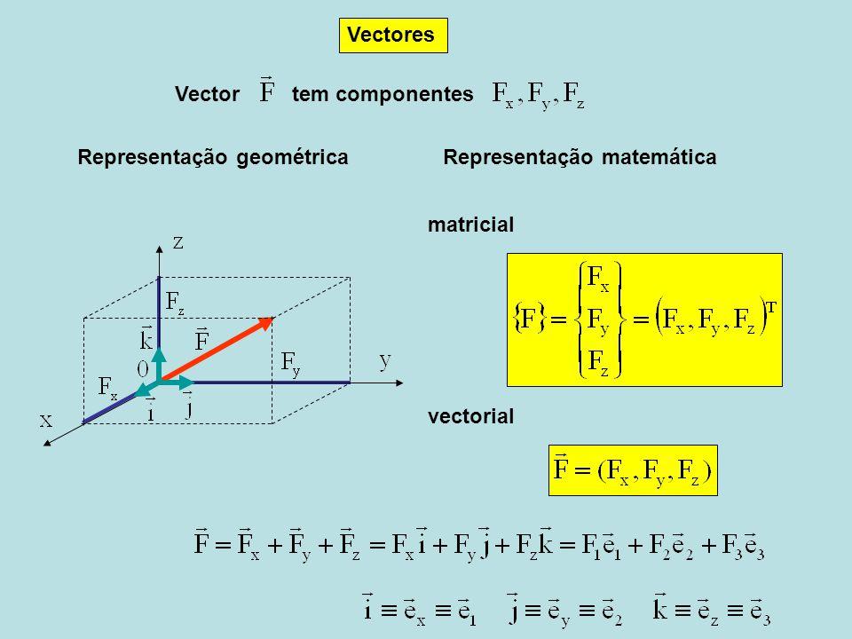vectorial matricial Vectores Vectortem componentes Representação matemática Representação geométrica
