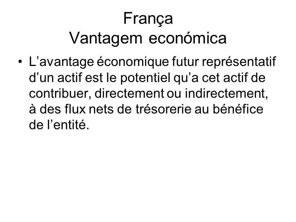 França Vantagem económica Lavantage économique futur représentatif dun actif est le potentiel qua cet actif de contribuer, directement ou indirectemen