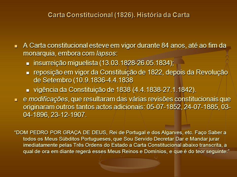 Carta Constitucional (1826).