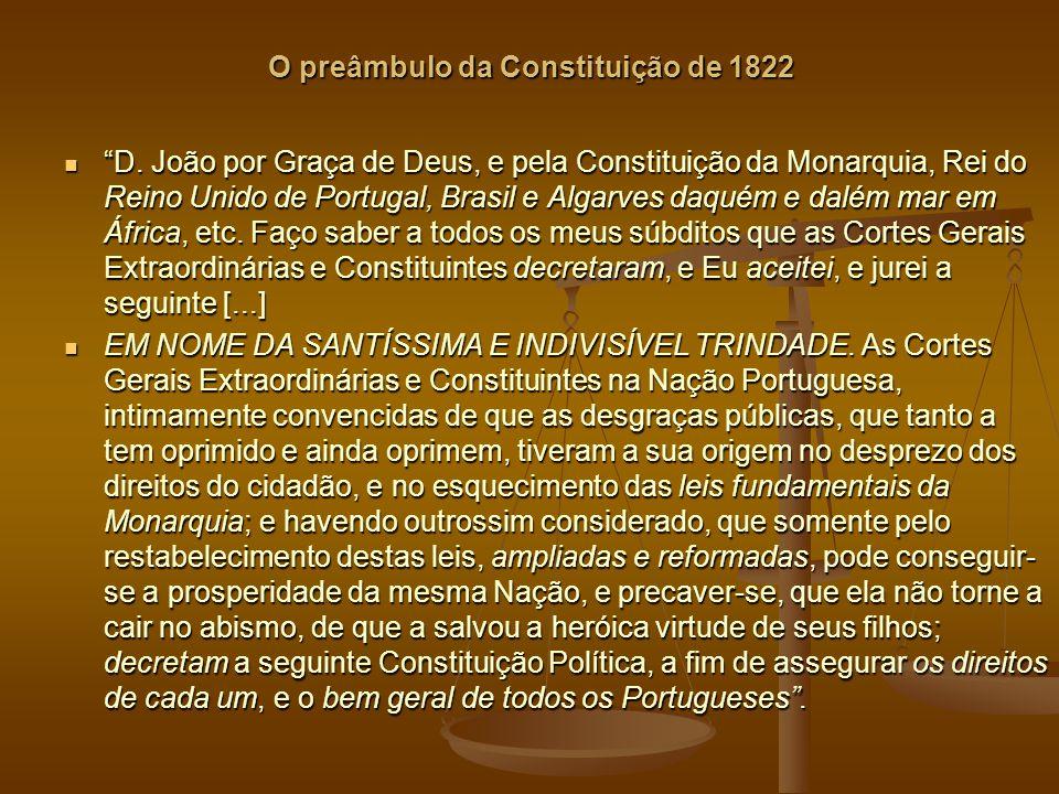 O preâmbulo da Constituição de 1822 D.