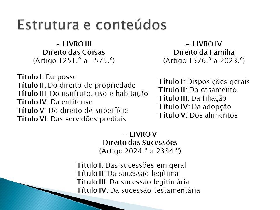 Enquadramento histórico Estrutura e conteúdos