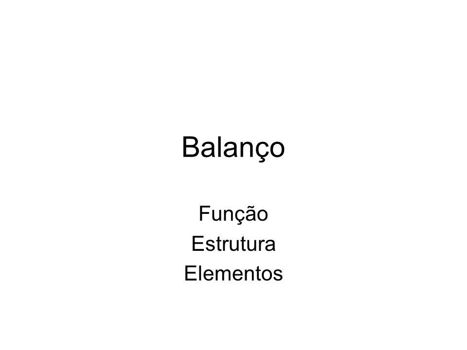 Balanço Função Estrutura Elementos