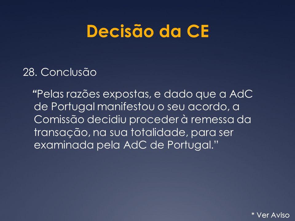 Decisão da CE 28.