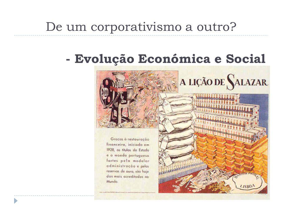 De um corporativismo a outro? - Evolução Económica e Social