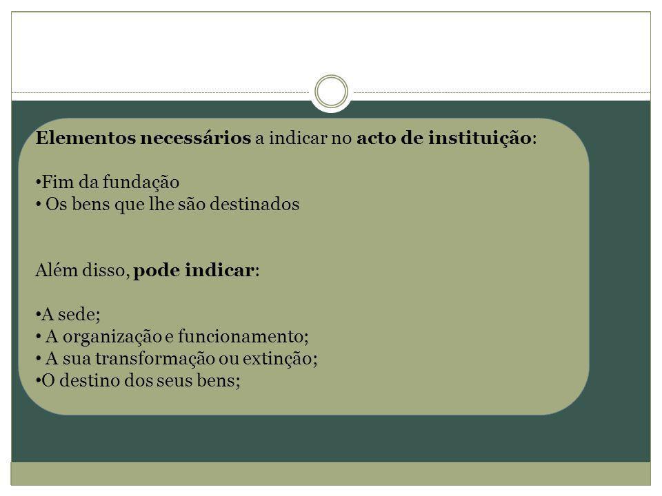 Denominação /Designação Sede Fins/Objecto Organização/ funcionamento Transformação /Extinção Bens/ Património 1.
