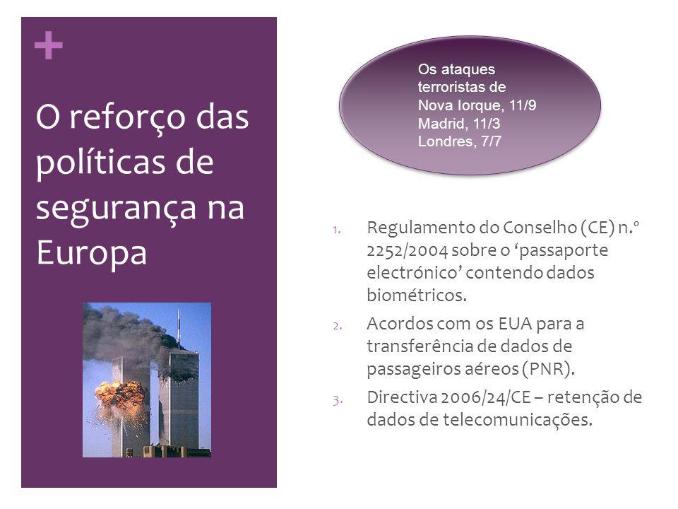 + Que protecção de dados: um enquadramento legal insuficiente … Decision 2008/977/JHA contains too wide an exception on the purpose limitation principle.