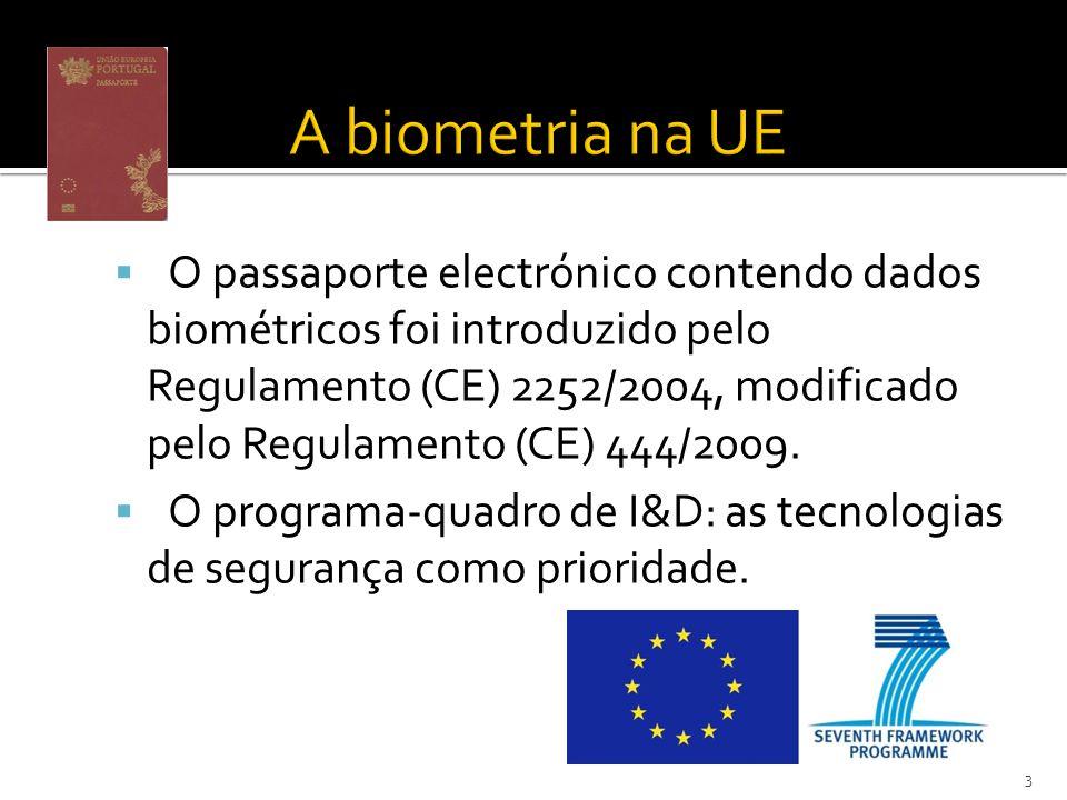 O passaporte electrónico contendo dados biométricos foi introduzido pelo Regulamento (CE) 2252/2004, modificado pelo Regulamento (CE) 444/2009.