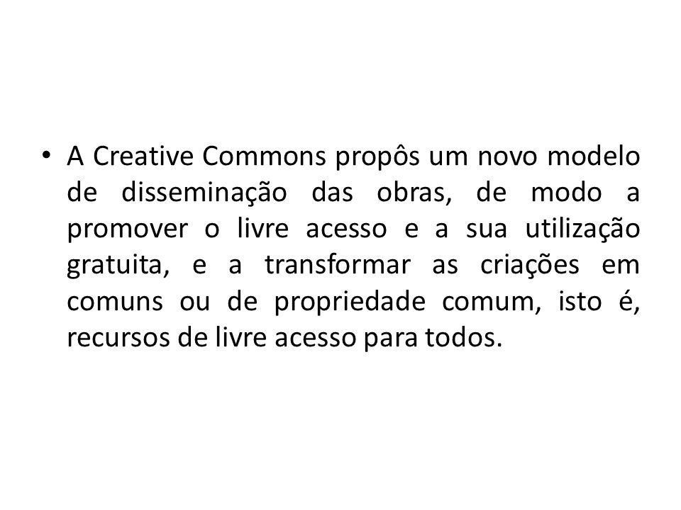 A Creative Commons propôs um novo modelo de disseminação das obras, de modo a promover o livre acesso e a sua utilização gratuita, e a transformar as