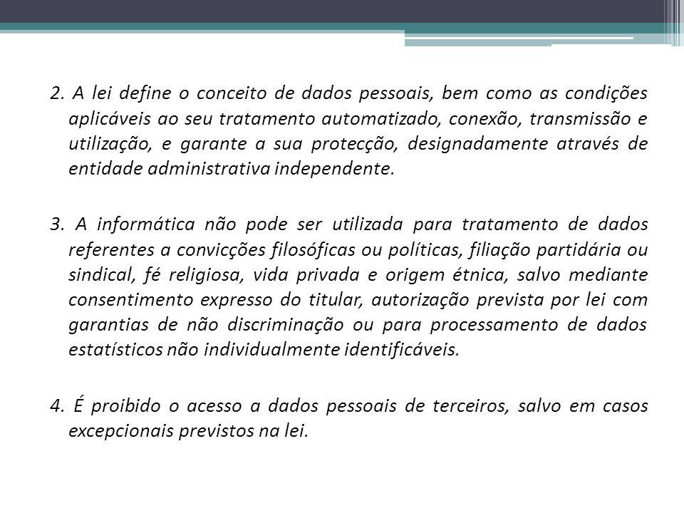 5.É proibida a atribuição de um número nacional único aos cidadãos.