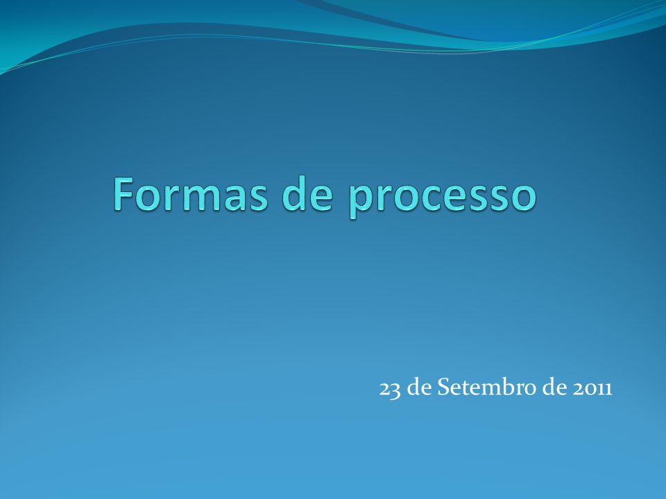 Formas de processo Dezenas de formas de processo, espalhadas pelo CPC e por legislação avulsa.