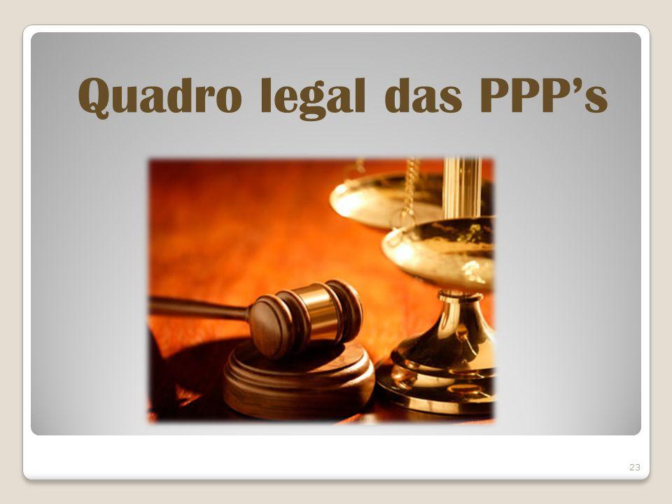 23 Quadro legal das PPPs
