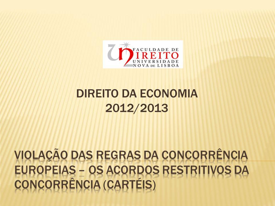 DIREITO DA ECONOMIA 2012/2013