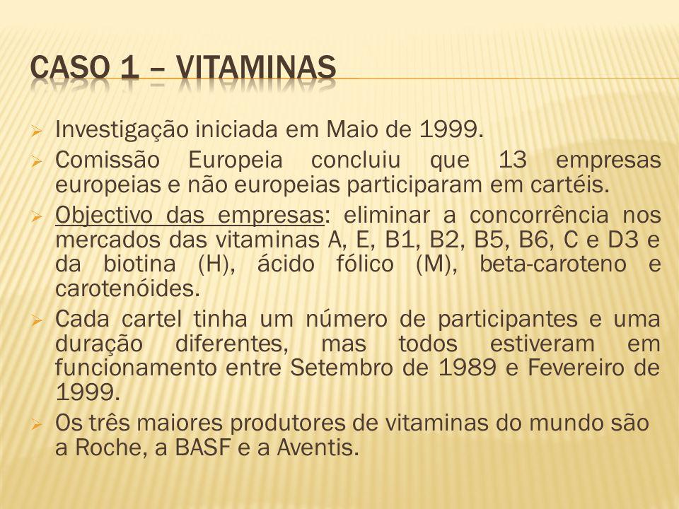 Investigação iniciada em Maio de 1999.