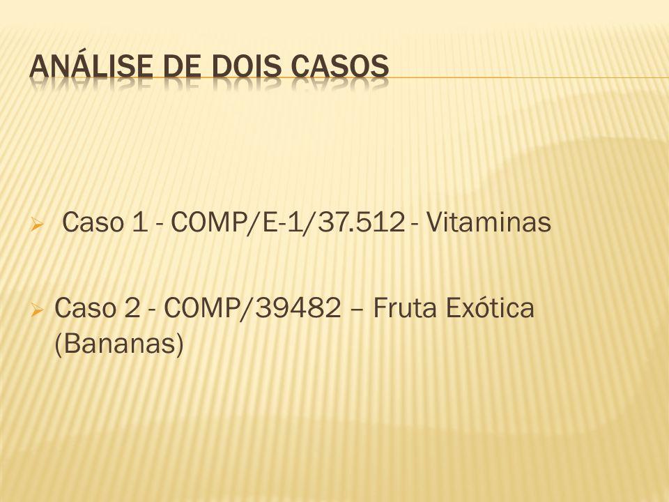Caso 1 - COMP/E-1/37.512 - Vitaminas Caso 2 - COMP/39482 – Fruta Exótica (Bananas)