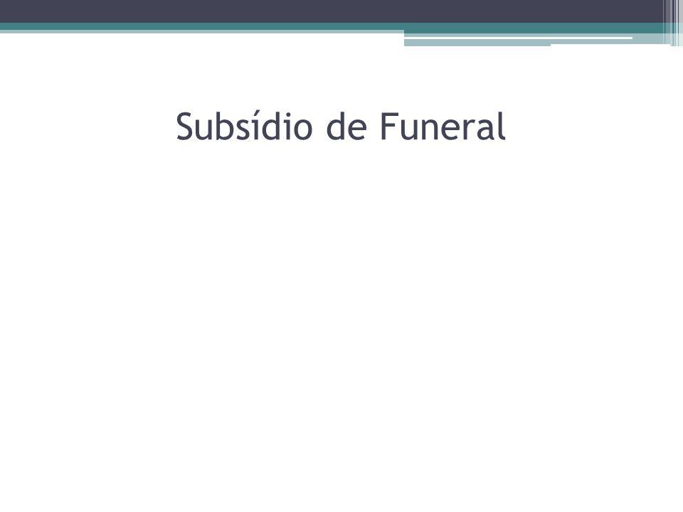 Subsídio de Funeral