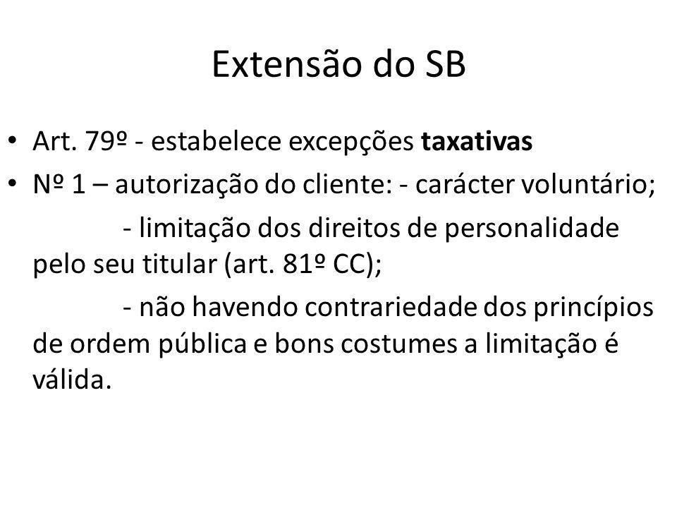 Extensão do SB Art.