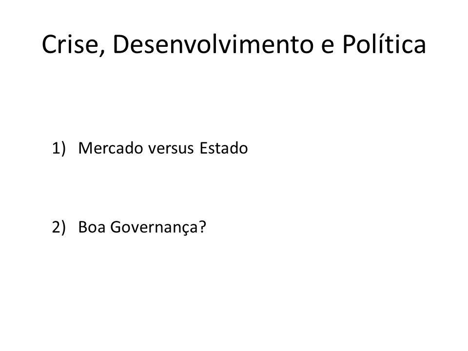 Crise, Desenvolvimento e Política 1)Mercado versus Estado 2)Boa Governança?