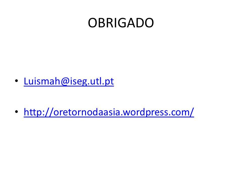 OBRIGADO Luismah@iseg.utl.pt http://oretornodaasia.wordpress.com/