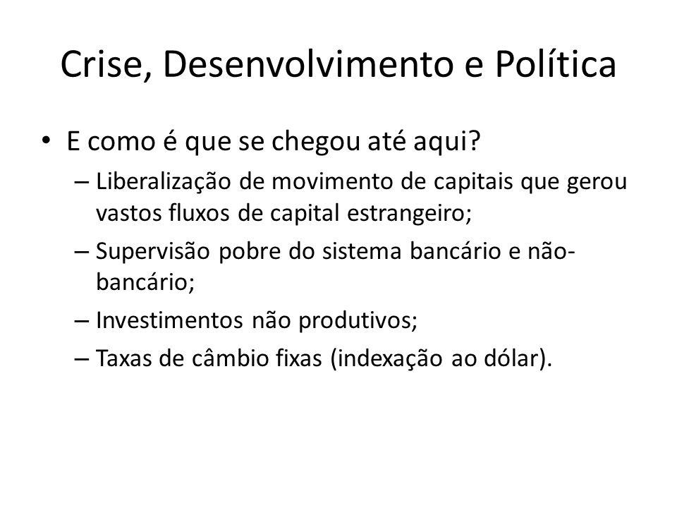 Crise, Desenvolvimento e Política E como é que se chegou até aqui.