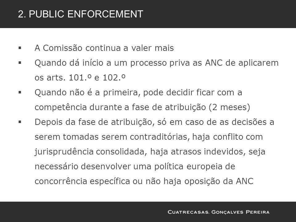 A Comissão continua a valer mais Quando dá início a um processo priva as ANC de aplicarem os arts. 101.º e 102.º Quando não é a primeira, pode decidir