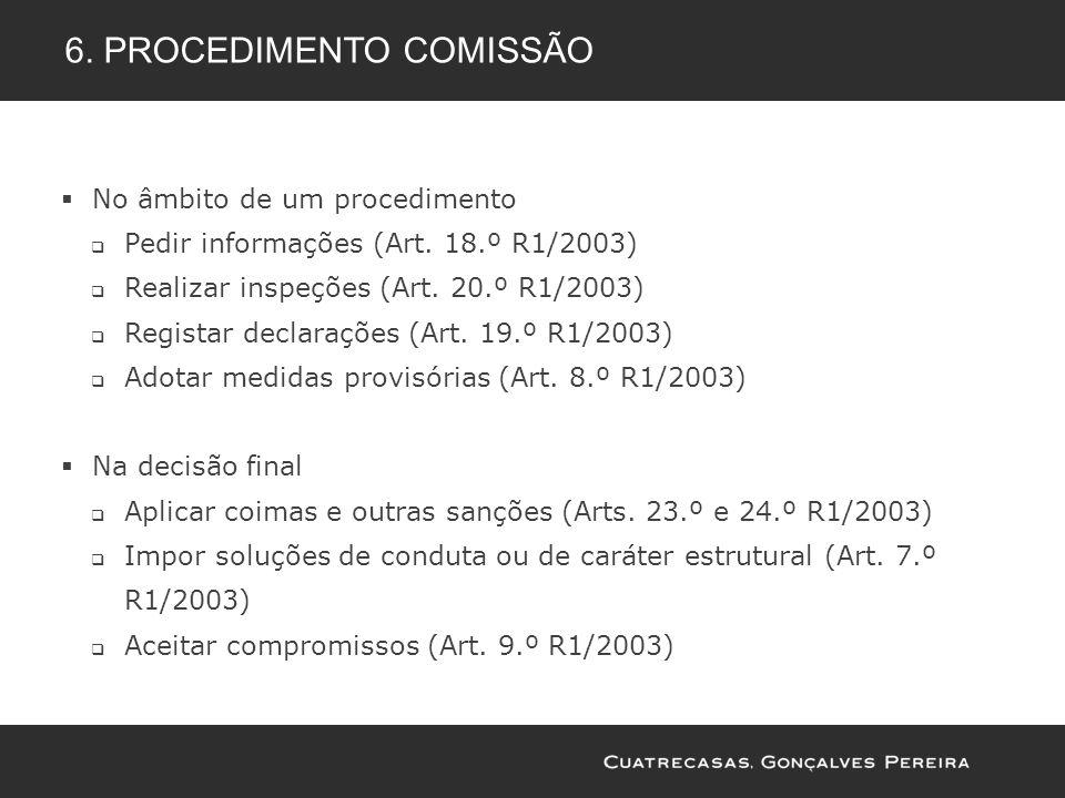 No âmbito de um procedimento Pedir informações (Art. 18.º R1/2003) Realizar inspeções (Art. 20.º R1/2003) Registar declarações (Art. 19.º R1/2003) Ado