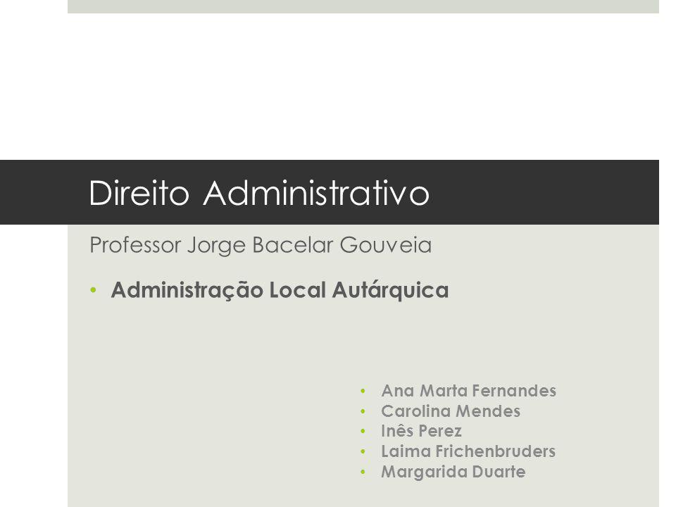 Direito Administrativo Professor Jorge Bacelar Gouveia Administração Local Autárquica Ana Marta Fernandes Carolina Mendes Inês Perez Laima Frichenbrud
